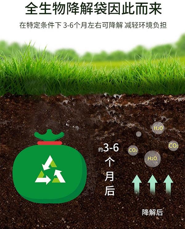 全生物可降解塑料袋可以减少二氧化碳的排放